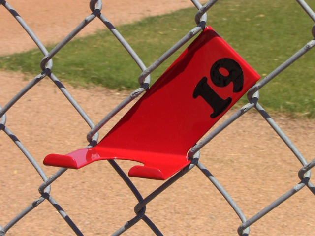 Red Bat Hanger Holder